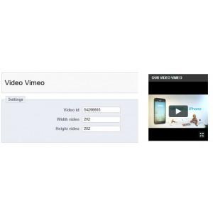 Престашоп Модуль Видео Vimeo. Video Vimeo Prestashop Module