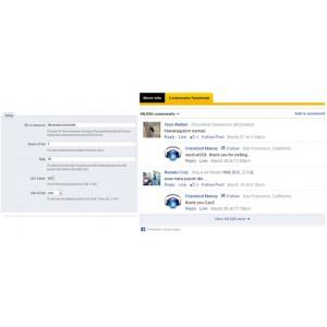 Facebook Комменты на странице продуктов