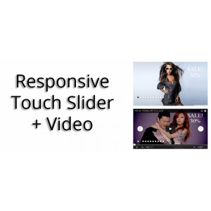 Адаптивный Слайдер Картинок и Видео Youtube. Responsive Touch Slider