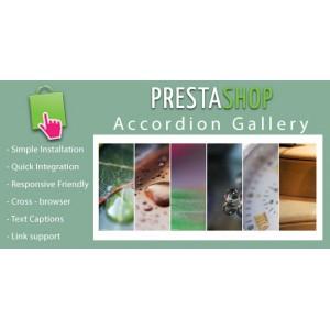 Адаптивная аккордеон фотогалерея для Prestashop