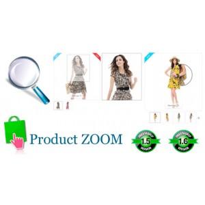 ZOOM изображений продуктов для Prestashop