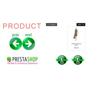 Кнопки предыдущий - следующий продукт категории для Prestashop