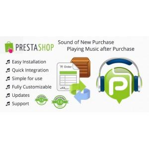 Звуковой сигнал после покупки в вашем Prestashop.